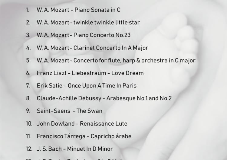 Playlist για ήρεμα βρέφη