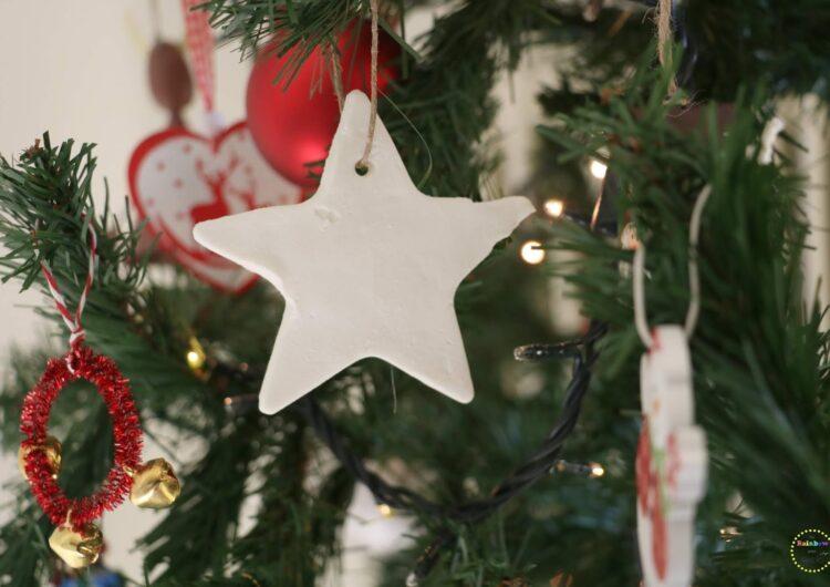 DIY: Λευκά Χριστουγεννιάτικα στολίδια από σόδα