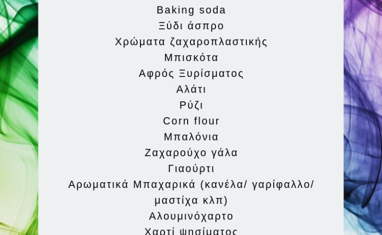 Λίστα Supermarket: Τι να έχετε πάντα στο ντουλάπι σας για δημιουργική απασχόληση στο σπίτι